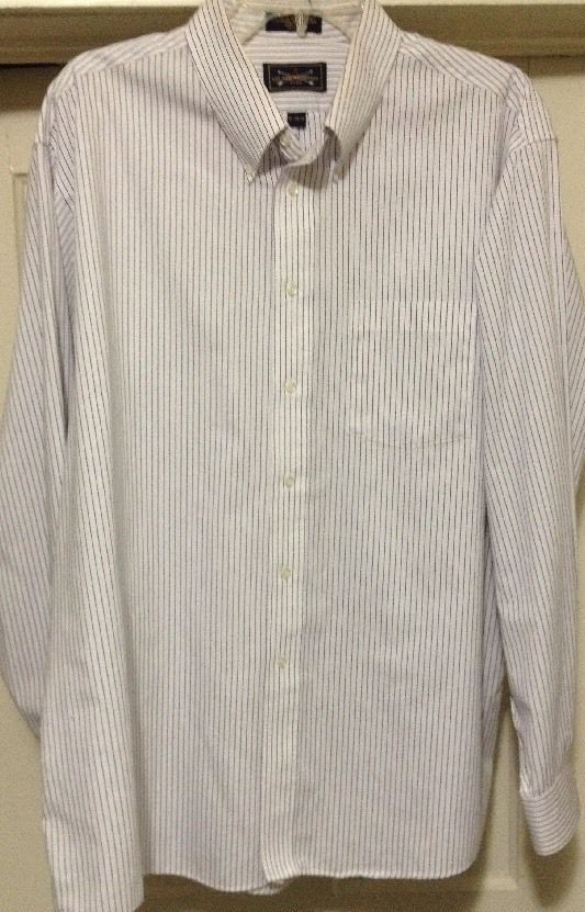 Arrow Company Mens Pin Stripe Long Sleeve Dress Shirt Wrinkle Free Sz 18-34/35 in Clothing, Shoes & Accessories | eBay