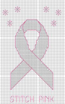 Knitted Pattern Graph Chart Pink Ribbon : 1000+ images about Free Charts breast cancer on Pinterest Embroidery kits, ...