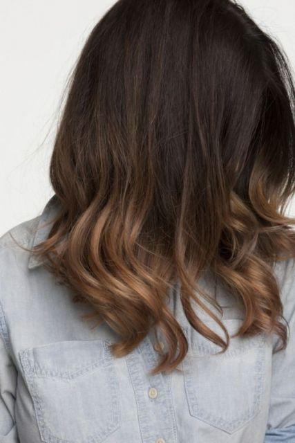 ombré hair cabelo castanho escuro