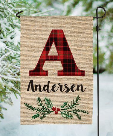 Loving this Plaid Personalized Outdoor Flag on #zulily! #zulilyfinds