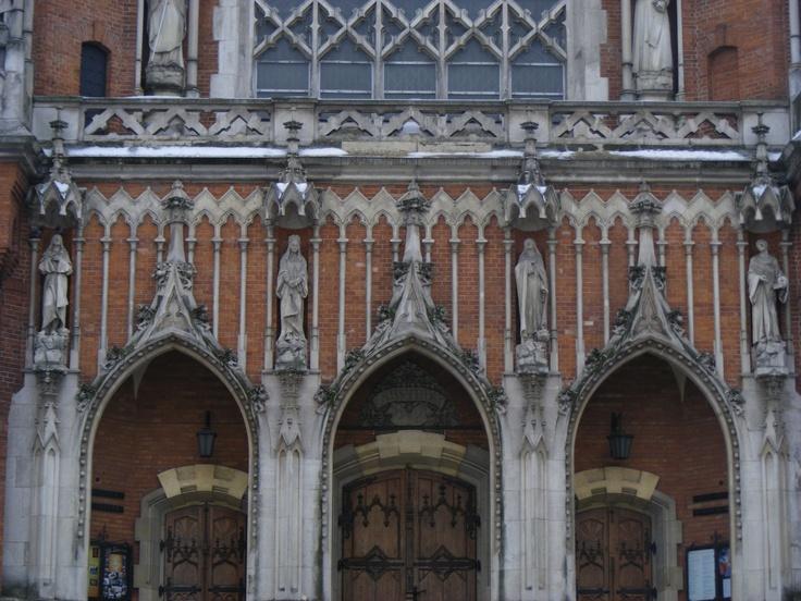 Facade of Church of St. Joseph (Kościół św. Józefa) in Kraków // 17.02.2013