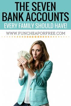The 7 bank accounts every family should have to keep budgets and  your finances in check!  Don't be overwhelmed, and let things spiral... I can help! www.BudgetBootCam...