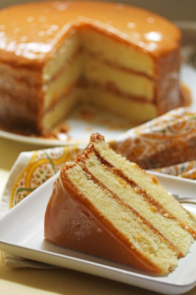 caramel cake-have to try this one next! Does not use a thermometer but you cook the caramel for 2 hours!