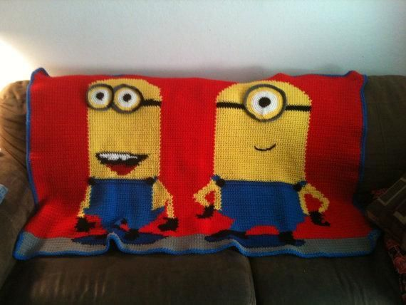 Crochet Pattern For Minion Blanket : Minions Blanket Pattern Got Yarn ??? Pinterest