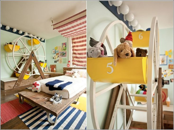 circus inspired boys' room