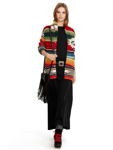 Polo Ralph Lauren hand-knit serape cardigan
