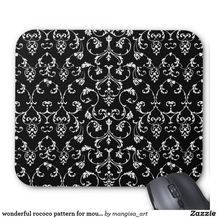 wonderful rococo pattern for mouse pad