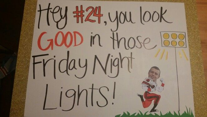 High school football spirit poster