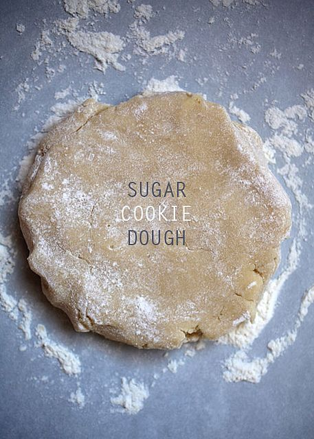 Sugar Cookie Dough by Bakerella. No need to bring butter to room temperature, or chill before rolling out!