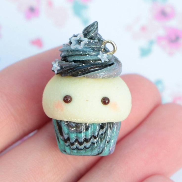 #kawaii #charms #polymer #clay #galaxy #cupcake #charm