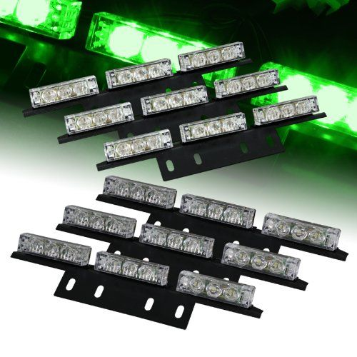54 Bright Green LED Emergency Flash Strobe Lights Bar for Windshield / Dash / Deck / Grille - http://www.caraccessoriesonlinemarket.com/54-bright-green-led-emergency-flash-strobe-lights-bar-for-windshield-dash-deck-grille/  #Bright, #Dash, #Deck, #Emergency, #Flash, #Green, #Grille, #Lights, #Strobe, #Windshield #All-Green-Automotive, #Green-Automotive