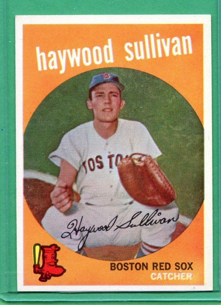 1959 topps baseball card 416 haywood sullivan nr mint