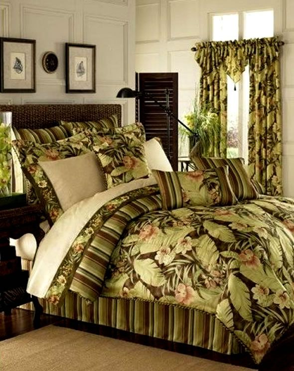 tropical room design ideas 4 simple tips i am in love with the comforter - Tropical Bedroom Decoration