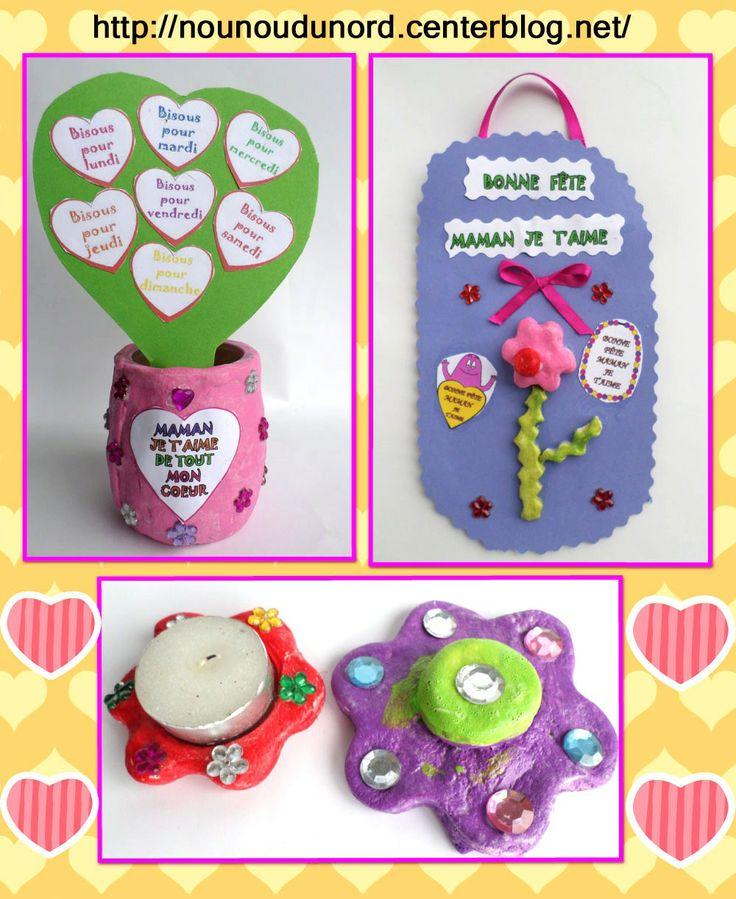 gaspard bient t 4 ans a r alis des cadeaux en p te sel pour sa maman un vase avec des coeurs. Black Bedroom Furniture Sets. Home Design Ideas