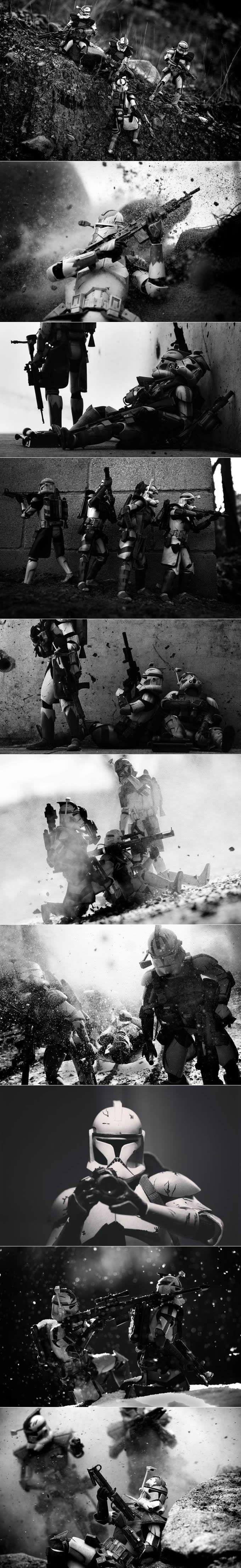 Humanizing soldier toys in Star Wars universe (Matthew Callahan)
