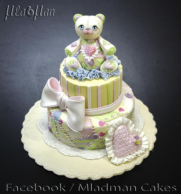 Baby Girl Patchwork cake - Cake by MLADMAN