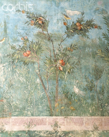 Roman Fresco of Garden with Fruit Tree