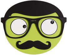 NeXtime Mr Mustache Green Wall Clock