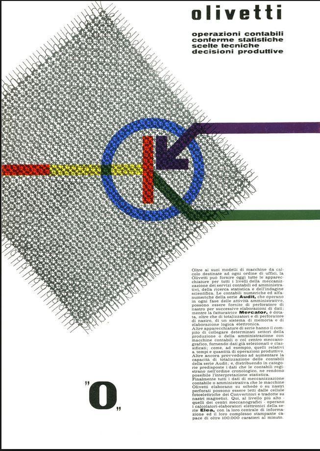 Olivetti, pubblicità Audit, Mercator, Elea