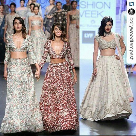 Still reeling from these beauties at #lfw16  Monica Dogra, Shibani Dandekar and Shruti Hasan for Payal Singhal