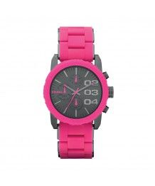 Diesel Damen Chronograph Quarz Rosa Plastik DZ5362 Uhren