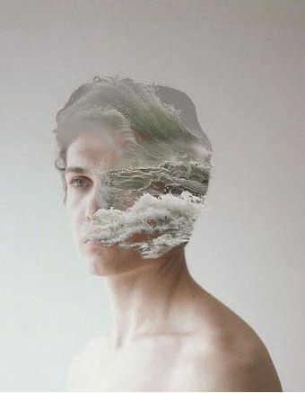 This reminds of my external self portrait, the sky in the background and in the eye whites.