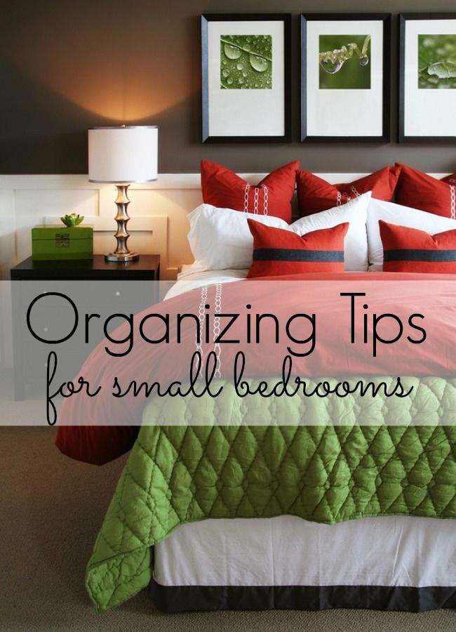 Organizing Tips for Small Bedrooms - love these ideas!