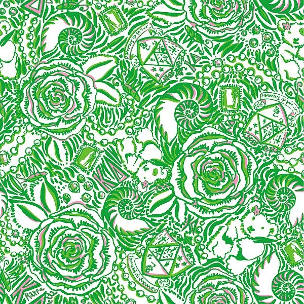 Lilly Pulitzer Bears, shells and roses Print Design
