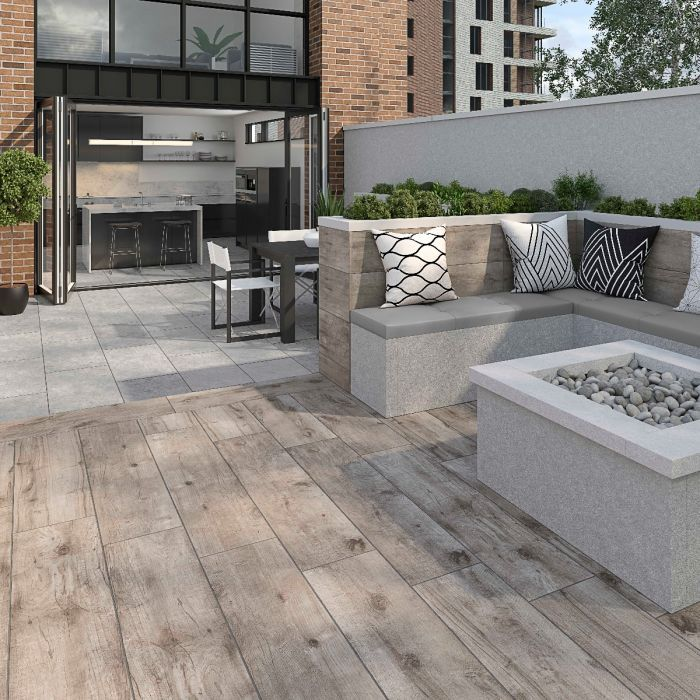 Kenwood Oak Matt Glazed Porcelain 300x1200x20mm Verona Group In 2020 Patio Flooring Outdoor Porcelain Tile Outdoor Wood Tiles