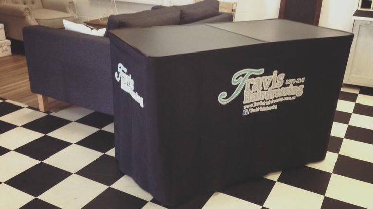 Spruce up your salon with your own branded table. Available in 2-panel tables and 3-panel tables. Brand your canvas valance and be seen!