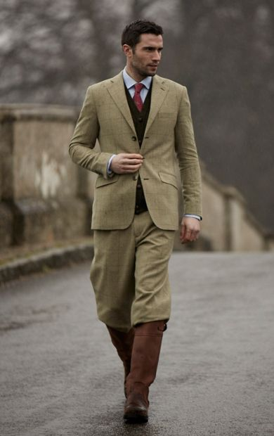 Plus fours suit with great boots.