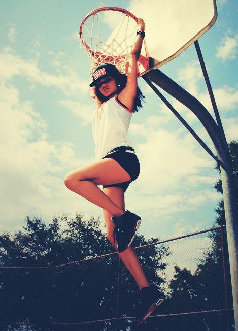 girl showing whose boss #basketball