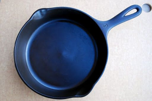 Black Iron Blog: Easy Cast Iron Skillet Reconditioning  personal note: Not sure about the poisons in the oven cleaner. Would think they would leach into the cast iron. But you can also burn the crud off by placing in oven and setting self clean, or by putting the pan in a bonfire outside.