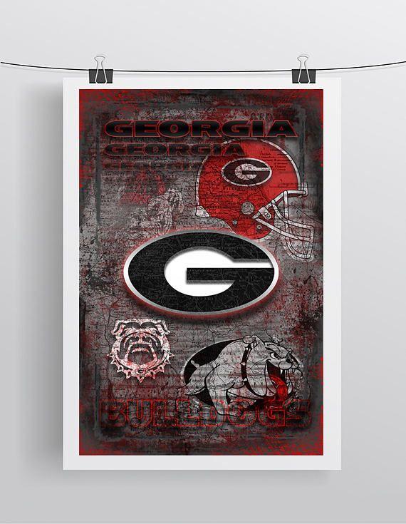 Georgia Bulldogs Poster George Bulldogs Gift University of