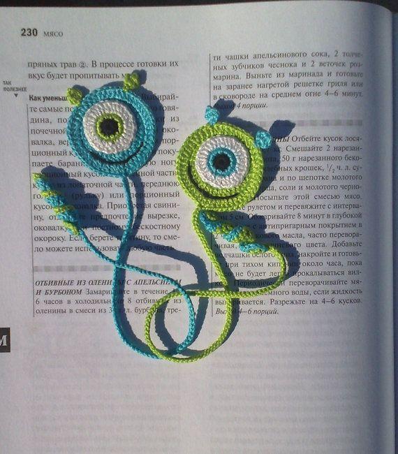 Bookmark Gifts Present Crochet Smile Crochet от ElenaGift