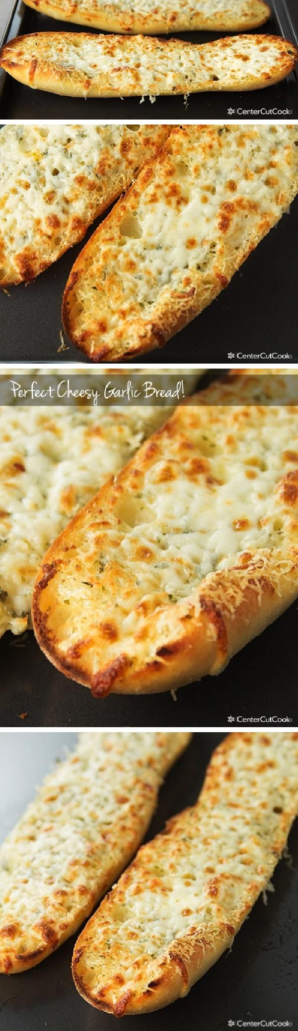 Somehow, GARLIC BREAD seems to be the PERFECT side dish for SO many recipes. It goes great with pastas, soups, even salads. This recipe has just the right amount of butter, garlic, and cheese which makes it the perfect CHEESY Garlic Bread!