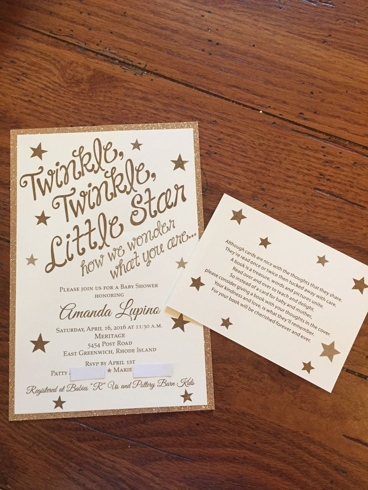 clever baby shower invitation wording%0A Twinkle  Twinkle  Little star how we wonder what you are  Gender neutral  baby