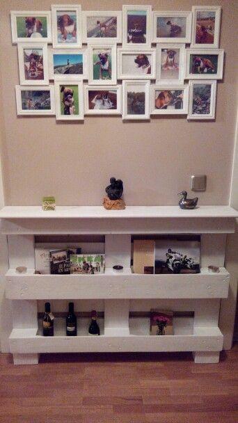 mueble recibidor hecho con un palet más hecho con deco hogar 3