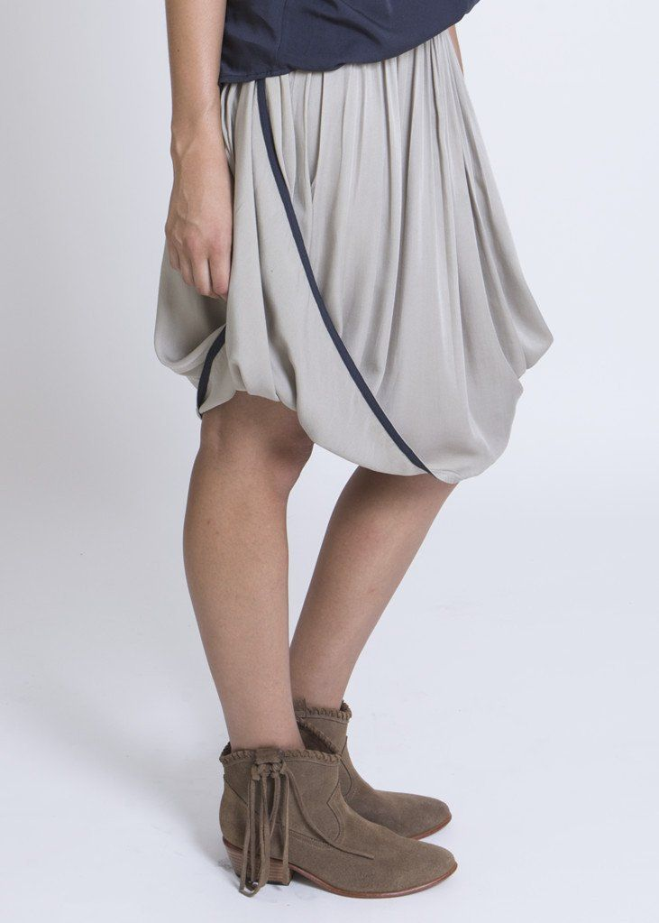 Blaze Midi Skirt: Bamboo Twill. Conscious Fashion, ethically made in Bali with love. Eco-preferred textiles.