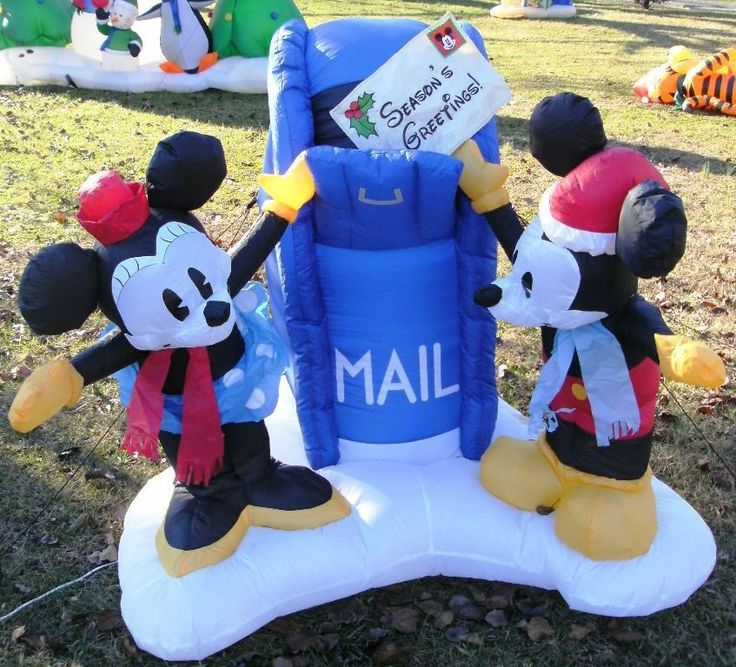 Details About Disney Christmas Mickey Amp Minnie Mailbox