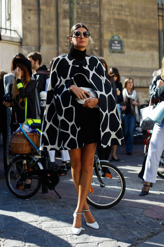Giovanna Battaglia, Paris Fashion Week Spring 2013.
