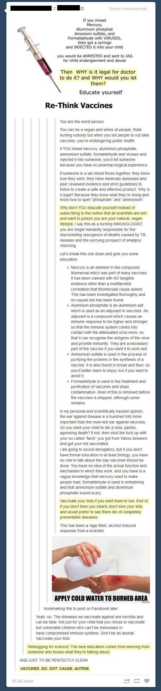 Angry scientist finds an uneducated internet comment and delivers an epic response... -   Misc