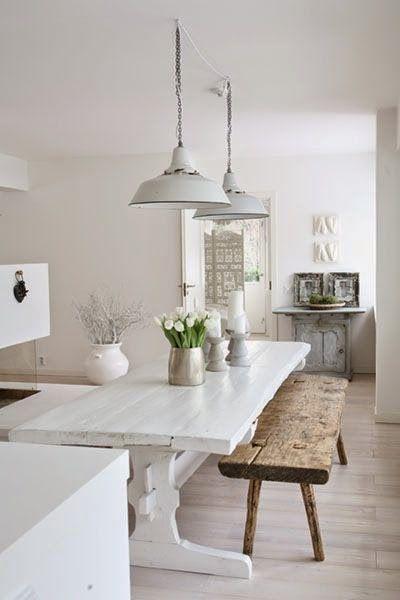 Rustic white kitchen: Simple, yet stunning