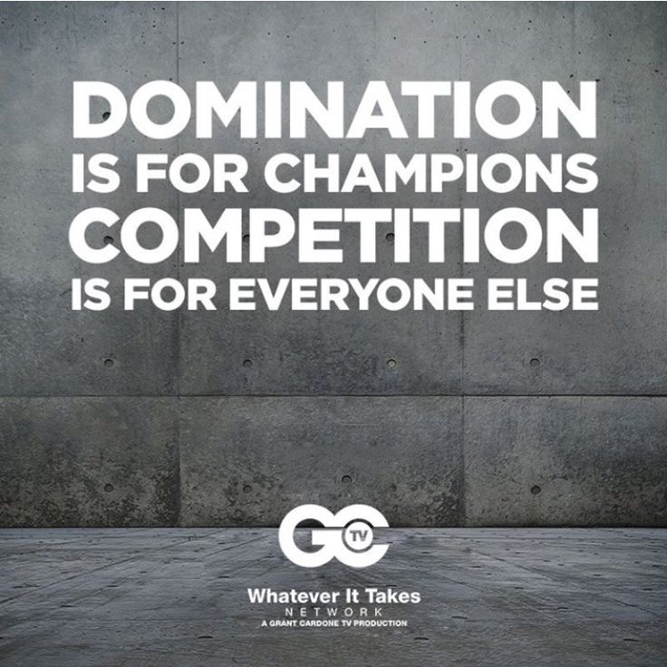 Competition Is For The Weak! #GrantCardone #10Xlife