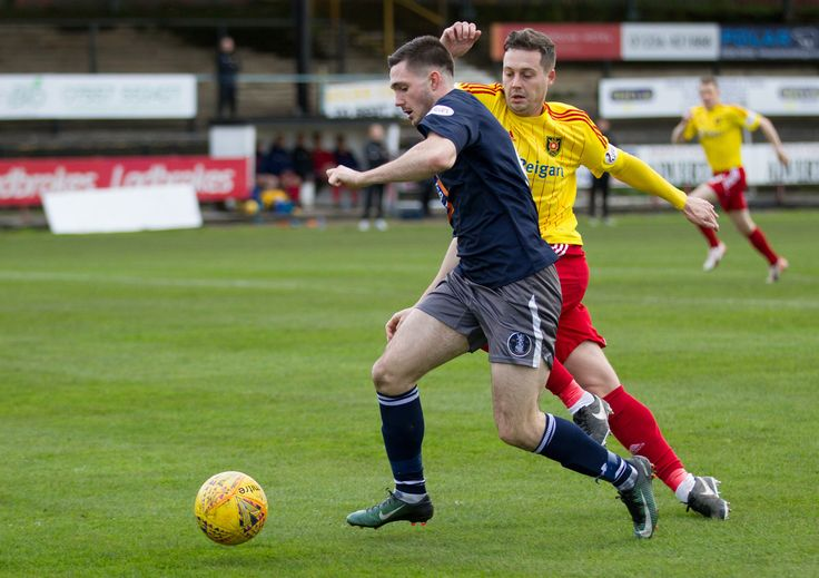 Queen's Park's Thomas Orr in action during the SPFL League One game between Albion Rovers and Queen's Park.