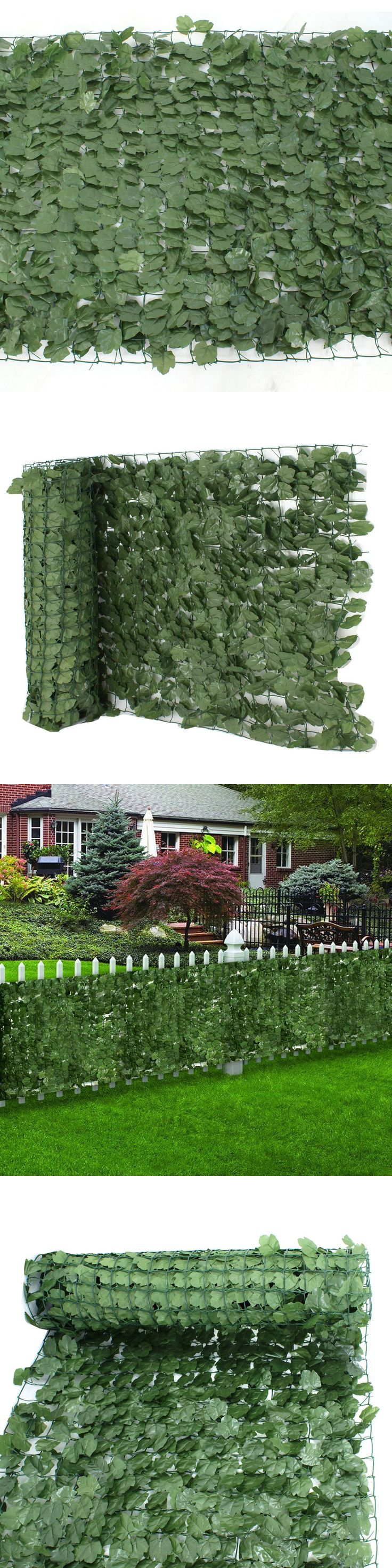 Privacy screen for chain link fence ebay - Fence Panels 139946 Faux Ivy Leaf Decorative Privacy Fence Screen 39 X 94 Artificial Hedge