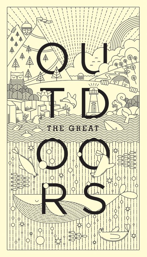love this illustration style! the great outdoors by warwick kay