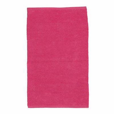Prem's Tapis chenille en coton rose rectangulaire 50x80cm