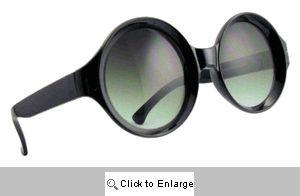 Lorenzo Round Sunglasses - 404 Black