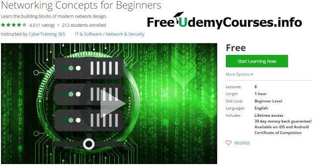 [#Udemy 100% Off] #Networking Concepts for Beginners   About This Course  Published 11/2016English  Course Description  This course is designed for anyone who wants an understanding of networking technologies. Have you ever wondered what goes on behind the scenes when you upload a post on social media send an email or have a skype call? This course is designed to give an overview of the networking concepts that make the internet run.  Learn the building blocks of modern network design.  This…
